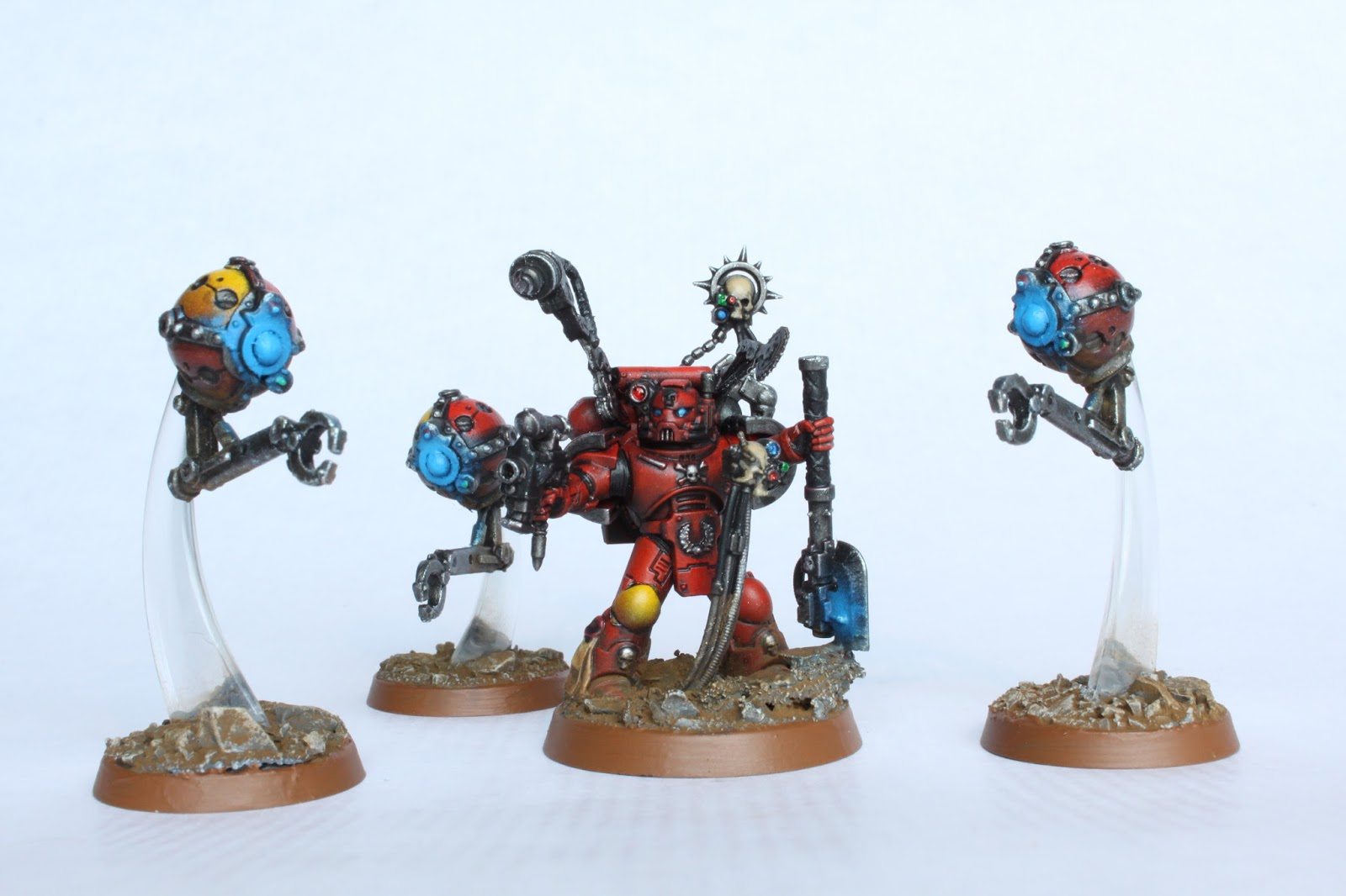 And Since I Already Had Parts For My Techmarine Decided To Use These Instead Of Buying A Servitors From Game Workshop