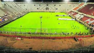 River Plate vs Desamparados jugando en el estadio de Huracan Duco vacio