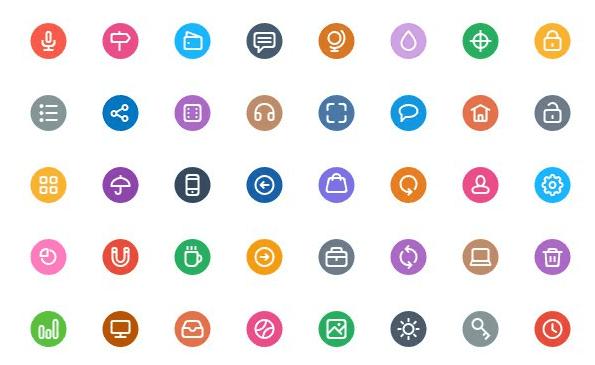 Flat Icons PSD