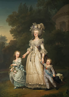 Marie Antoinette with Madame Royale and the Dauphin