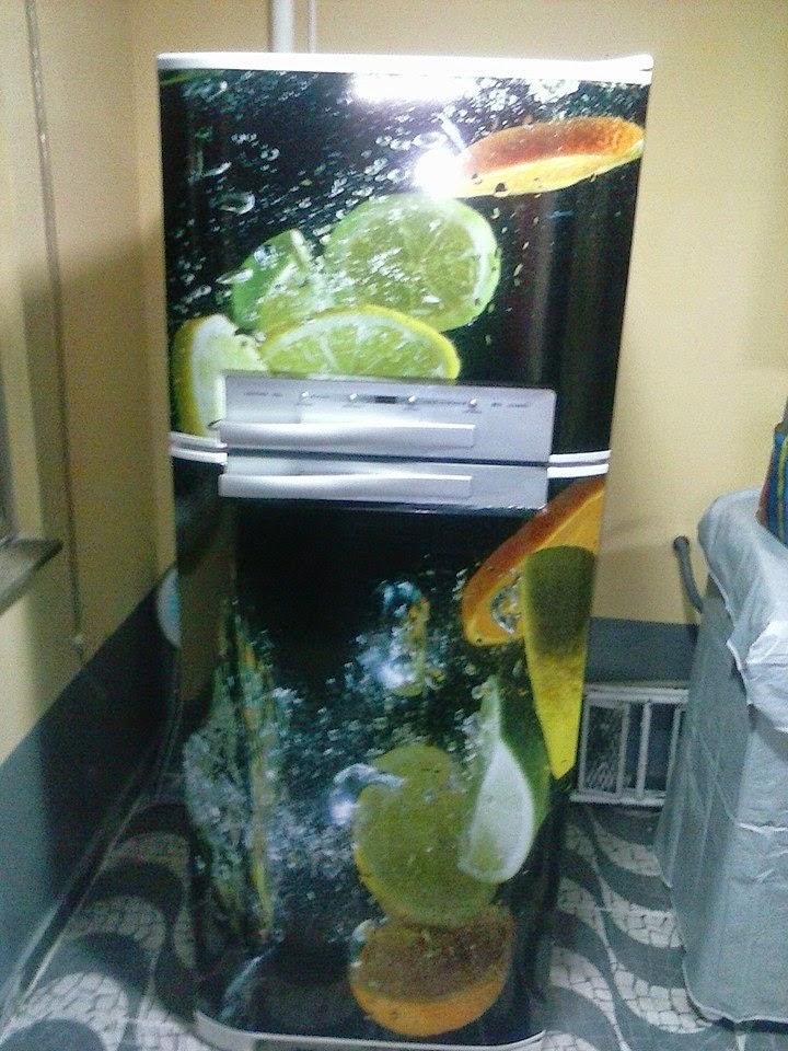 Envelopamento total com imagem de frutas