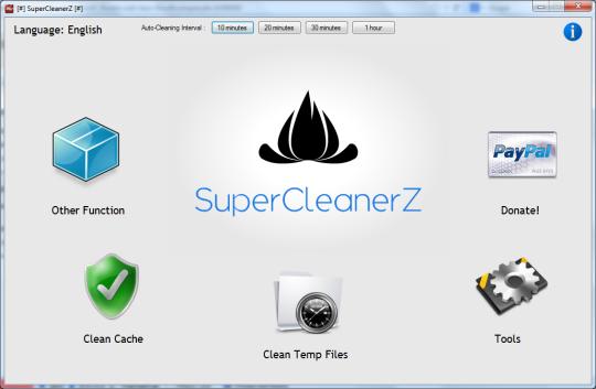 برنامج مجانى لتنظيف جهازك من الملفات المؤقتة وبيانات التصفح SuperCleanerZ Free