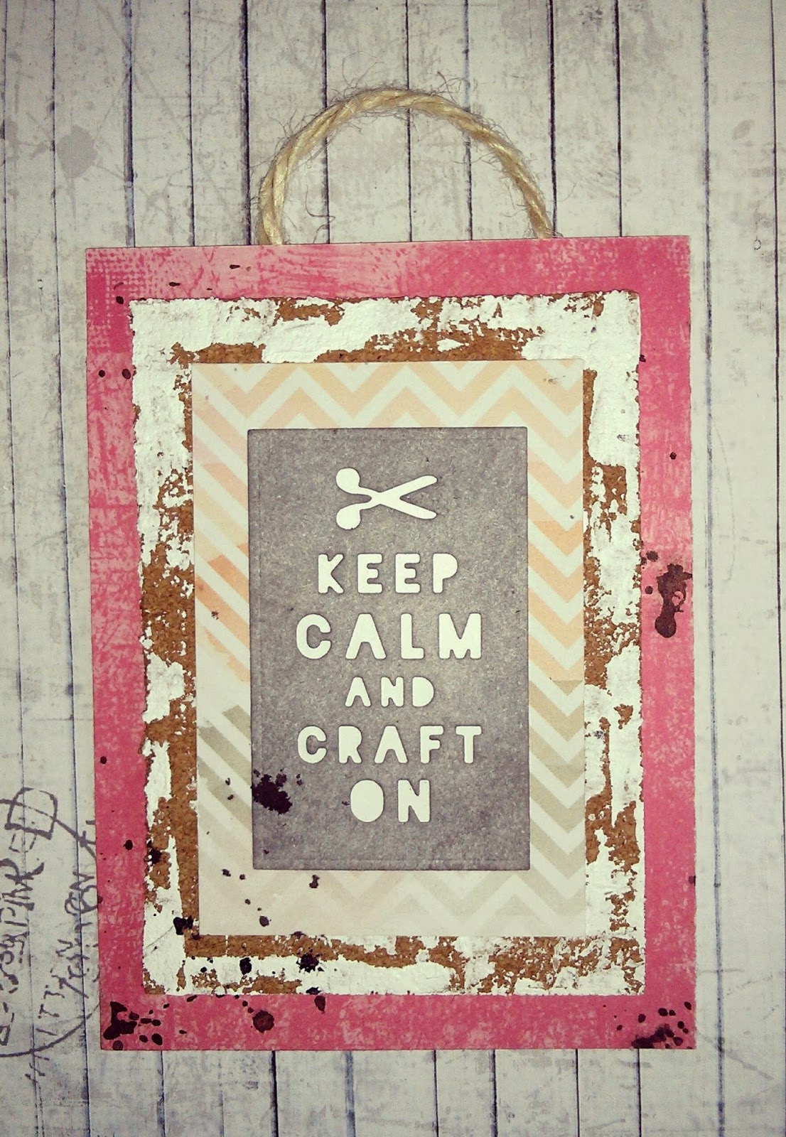Cuadro scrapbooking: Keep calm an craft on