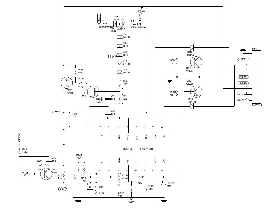 jbl gto7001 car audio - circuit diagram