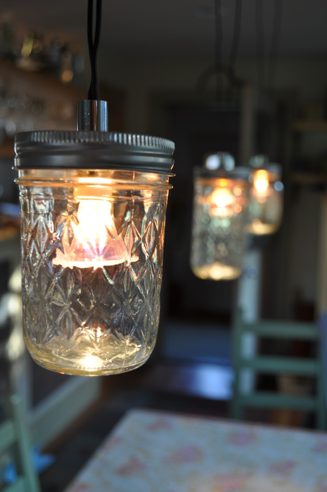 One Golden Apple Mason Jar Pendants