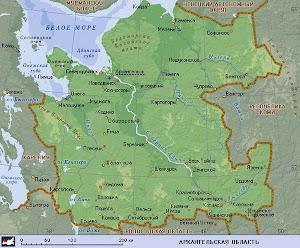Анимированная карта Архангельской области