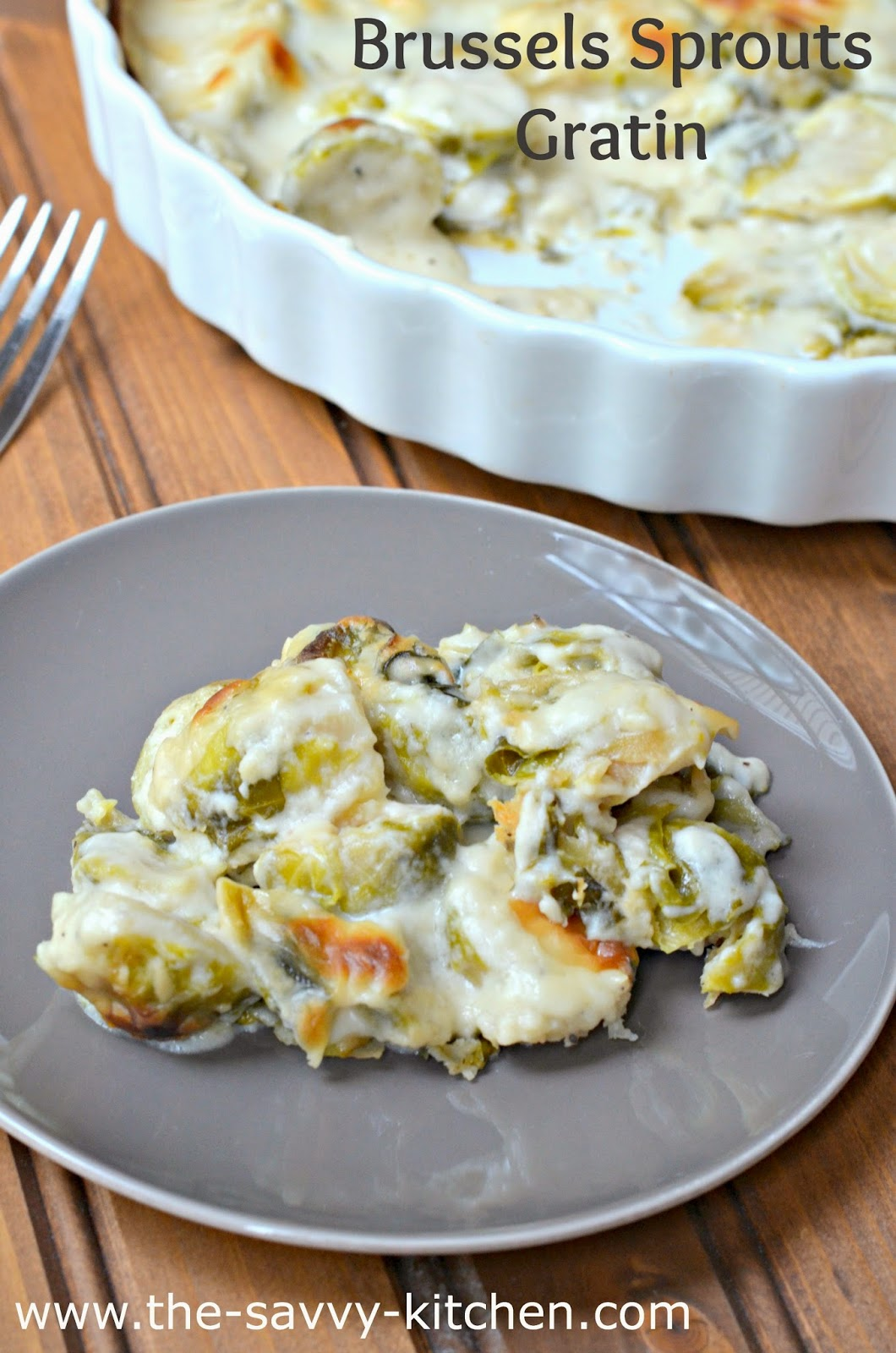 Smoky brussels sprouts gratin - Cook and Post