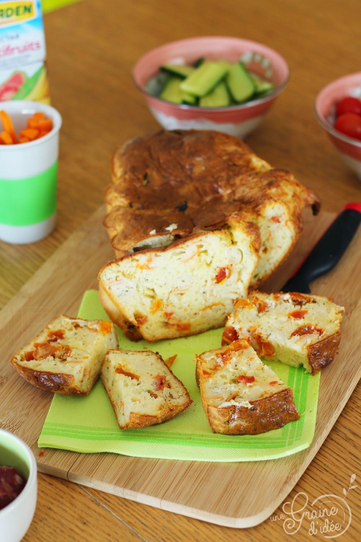 Cake au Surimi, Boursin Cuisine & Tomates Séchées