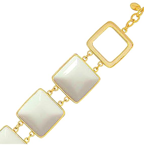 pulseira de pedras brancas