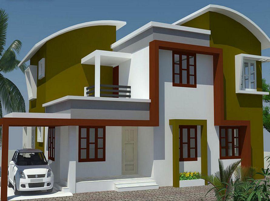 gabungan cat eksterior rumah minimalis idaman