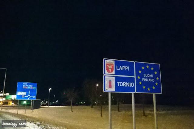 Tornio road sign