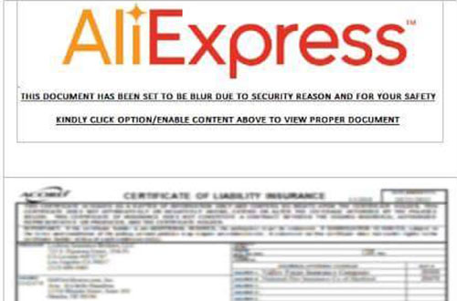 aliexpress mail false