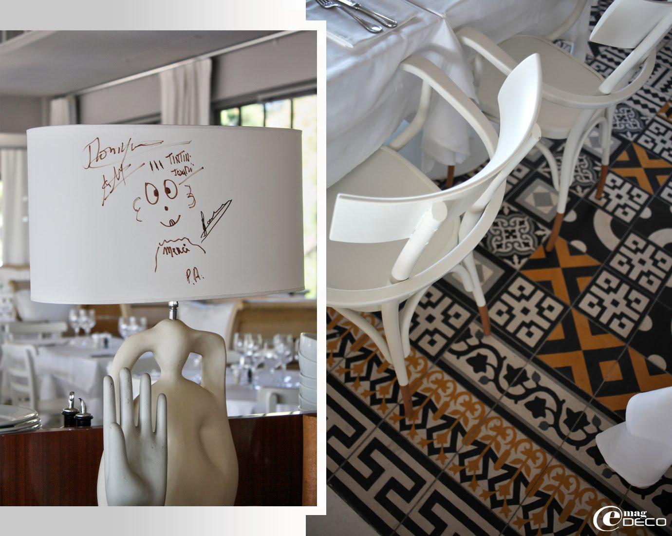 Détail de décoration du restaurant La Co(o)rniche réaménagé par Philippe Stark