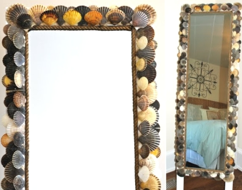 scallop shell mirror