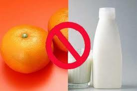 الأغذية التي لايمكن تناولها مع الحليب