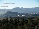 Panoràmica d'Hostalric i el seu Castell després de sobrepassar el Turó del Marquès