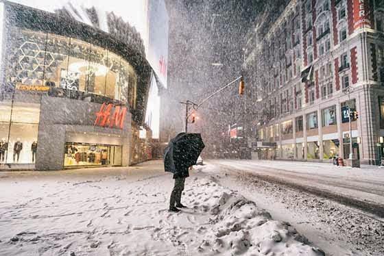 Menakjubkan Koleksi Gambar Ribut Salji Yang Melanda Bandar New York City