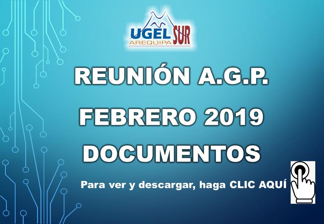 DOCUMENTOS DE LA REUNIÓN DE DIRECTORES IIEE FEBRERO 2019
