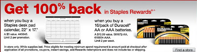 Staples.com 100% back in Staples Rewards