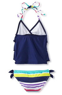 MyHabit: Up to 60% off Splendid Girls: Carnival Tankini - Perfect for pool parties, this darling tankini sports ruffles, colorful stripes, and knotted detailing
