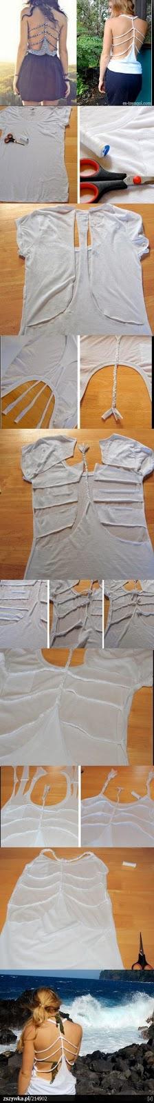 como fazer uma blusinha trançada