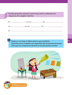 Apoyo Primaria Español 1er grado Bimestre 3 lección 5 Imágenes con palabras