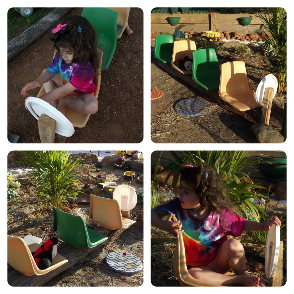 DIY Recycled Outdoor toys made from plastic chairs - via Mummy Musings and Mayhem