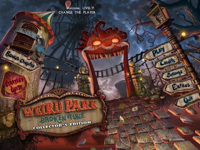 Weird Park: Broken Tune Collector's Edition main menu