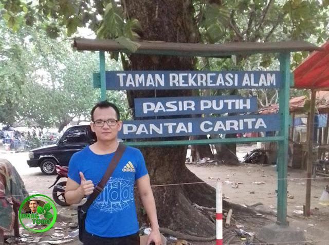 FOTO : Kang Asep AS Wisata Ke Pantai Pasir Putih Carita, Banten