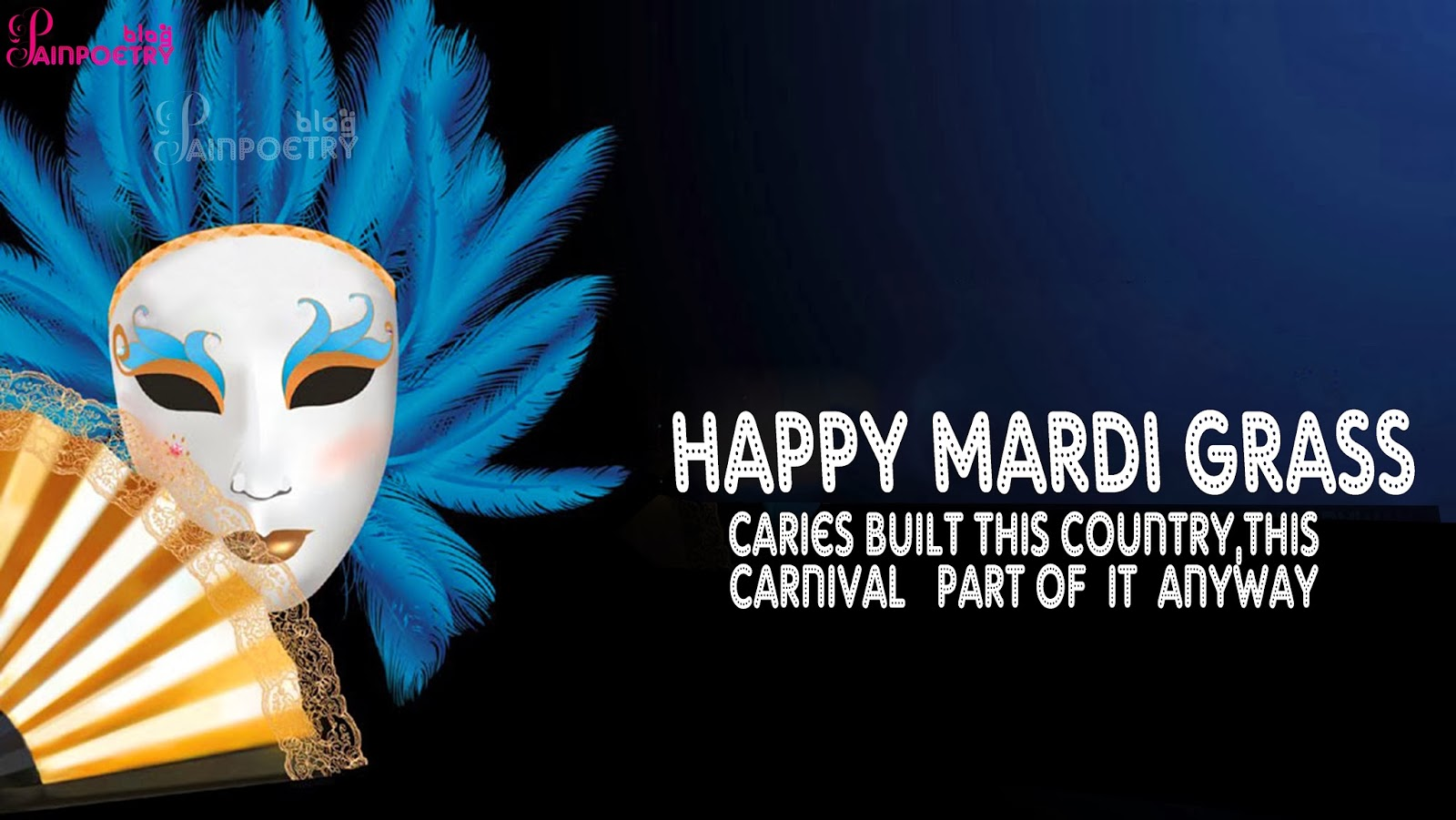 Happy-Mardi-Gras-Wishes-Image-eCard-Wallpaper-Photo-Venetian-Carnival-Mask-Wide-HD