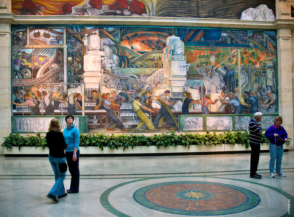 All michigan the great lake state the detroit murals for Diego rivera detroit mural