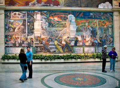 All michigan the great lake state the detroit murals for Diego rivera ford mural