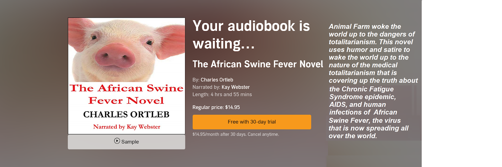 African Swine Fever Novel Audible