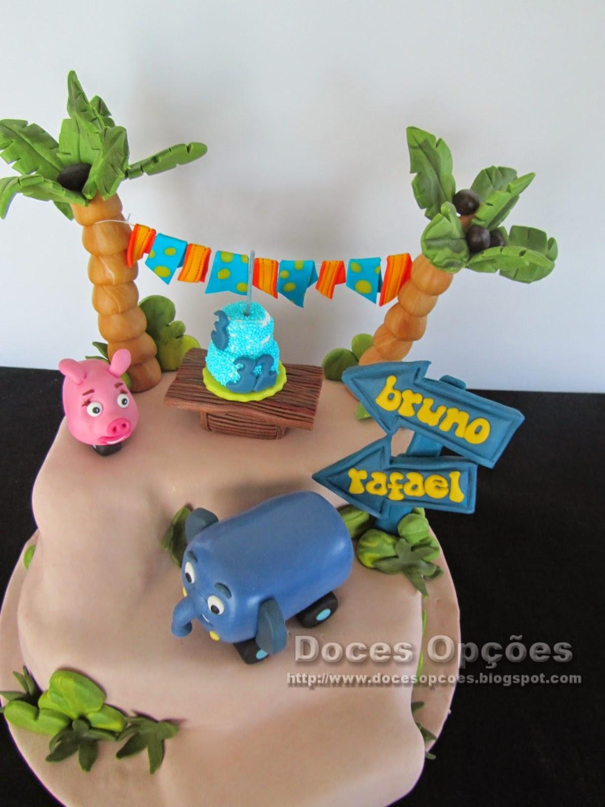 bolo cake design selva sobre rodas