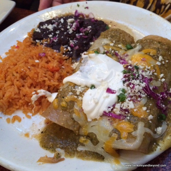 enchiladas verde at Miguel's Cocina at El Cordova Hotel on Coronado Island, California