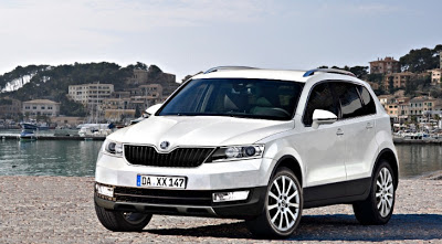 Skoda Snowman Seven-Seater SUV Rendered