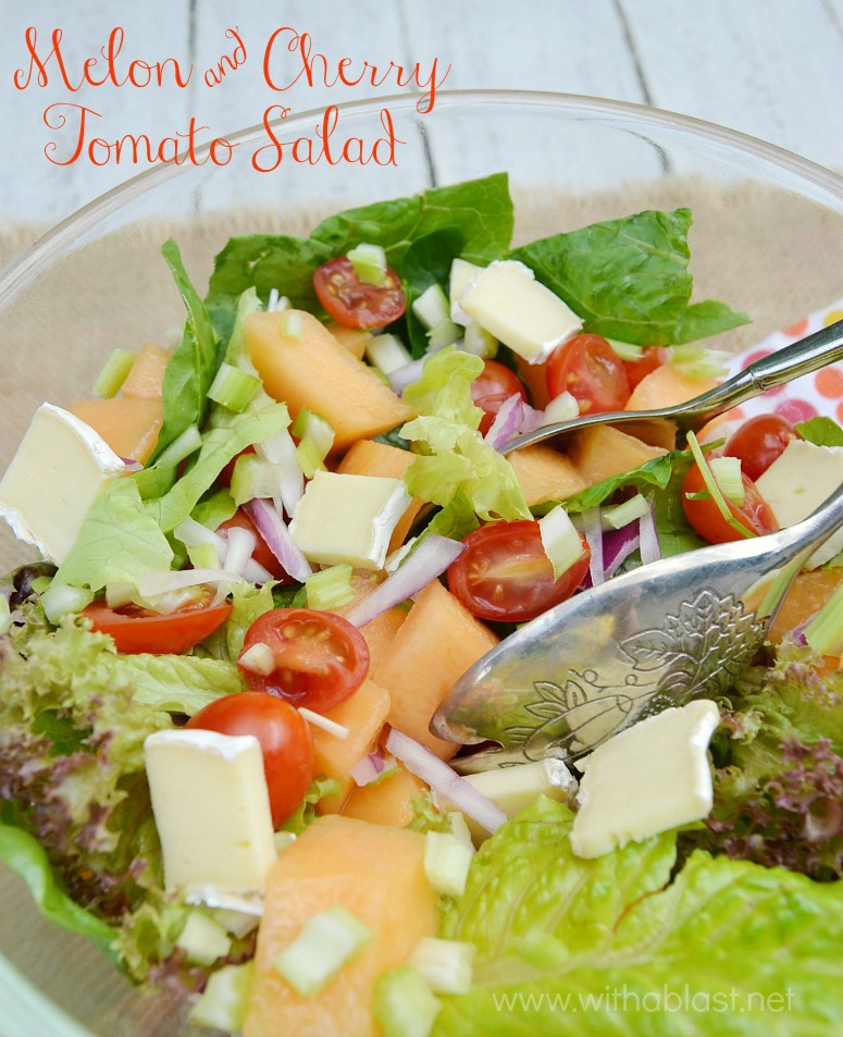 Melon and Cherry Tomato Salad
