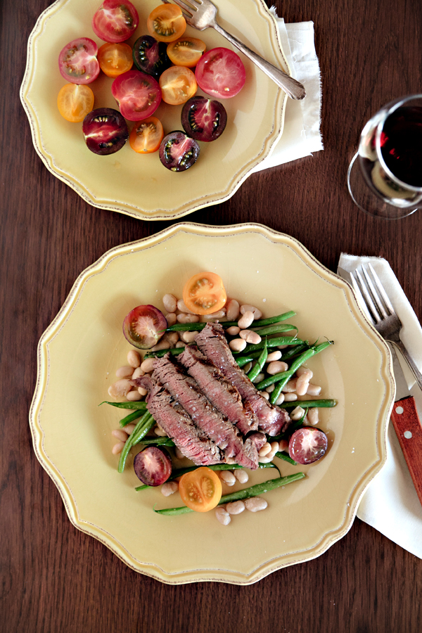 Steak & Bean Salad | Hannah Lundberg Bay Area Food Photographer