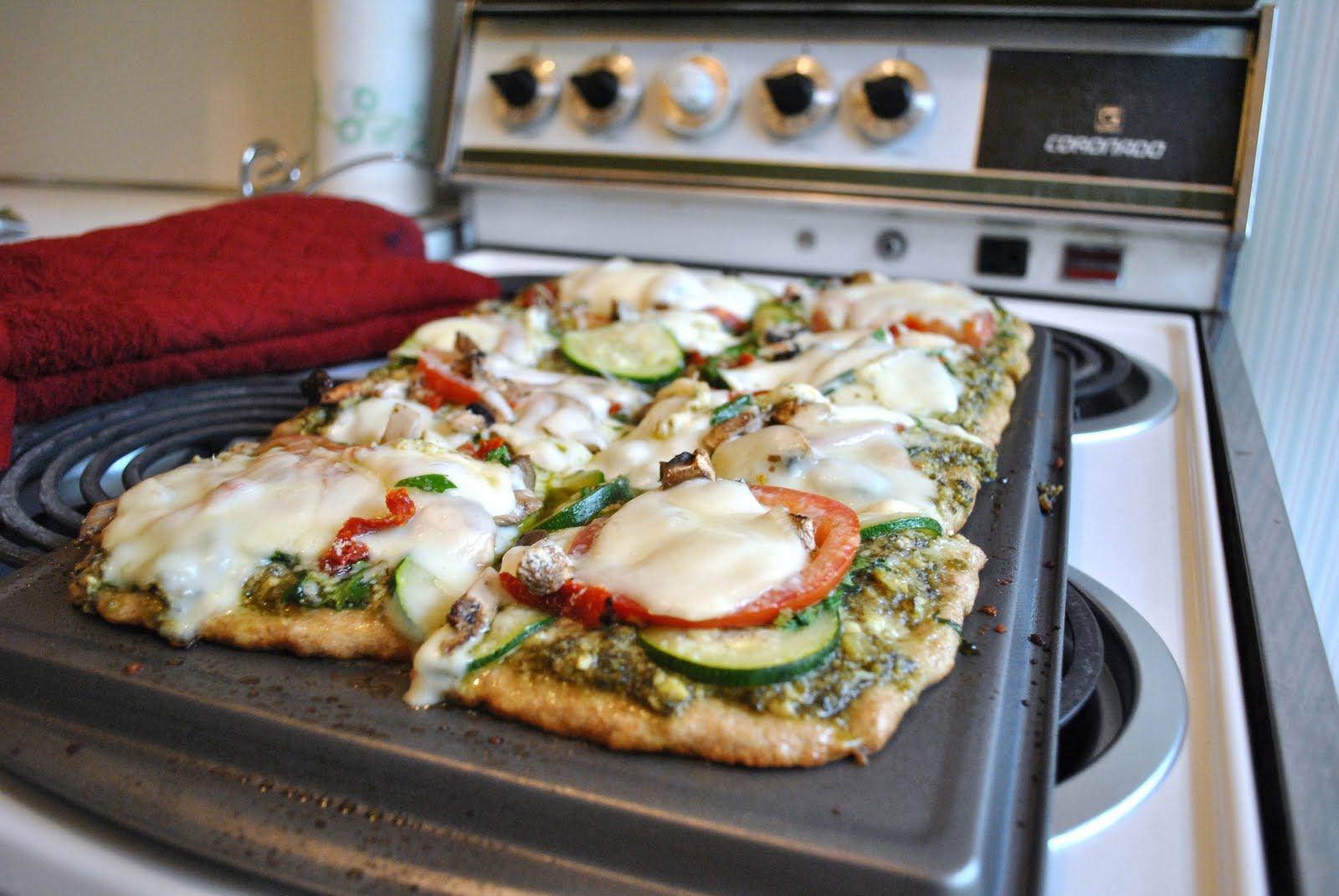 Kristin in Her Kitchen: Zucchini Pesto Pizza