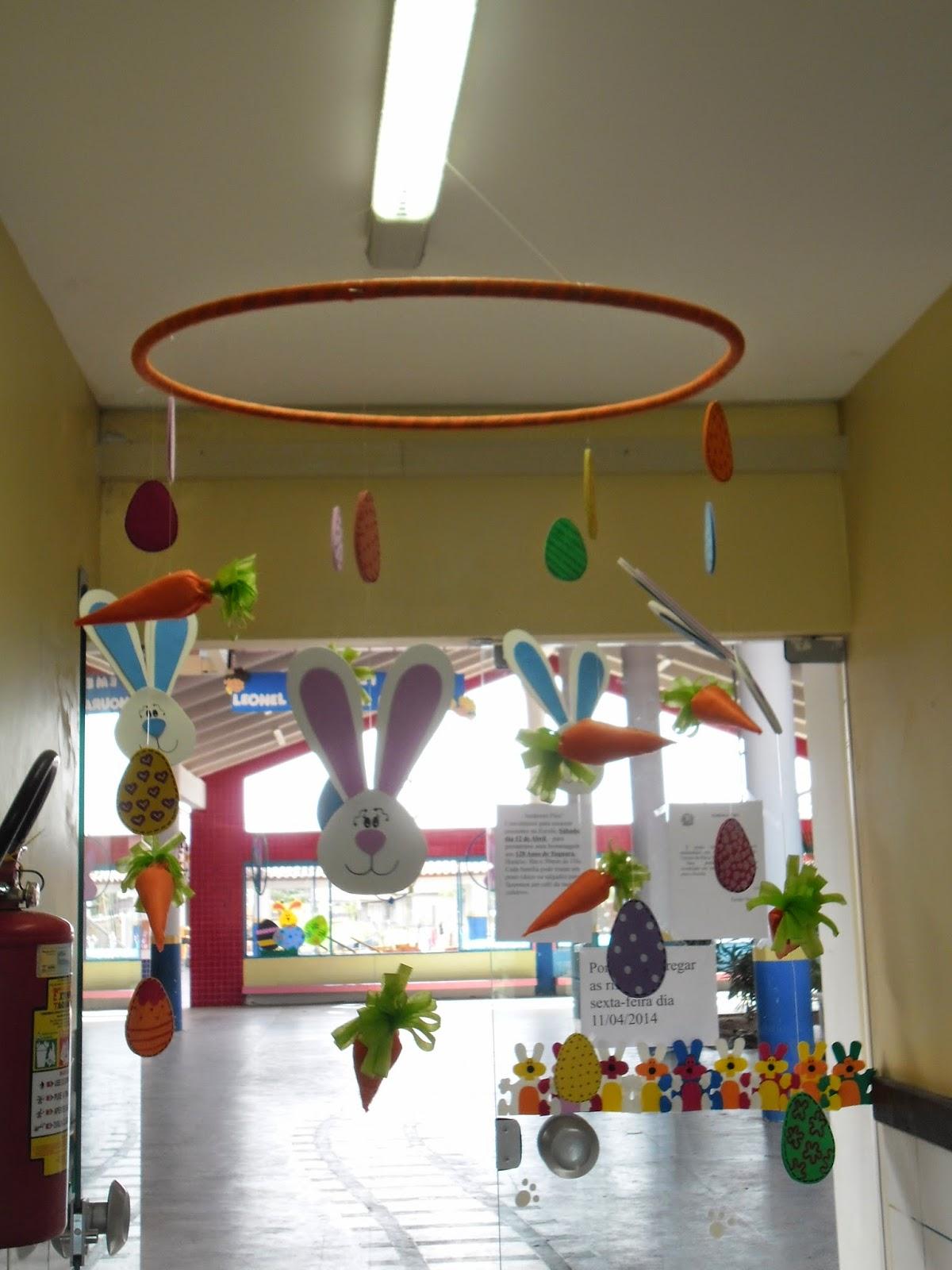Decoração de Páscoa  Escola Municipal de Educação Infantil Leonel de Moura B -> Decoracao Banheiro Educacao Infantil