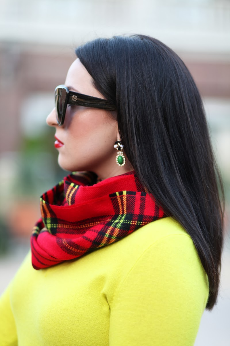 house of harlow chelsea sunglasses plaid scarf