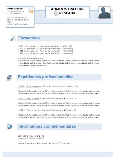 resume format  trouver un mod u00e8le de cv gratuit