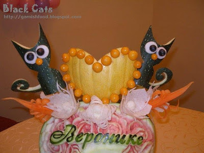 zuccini and pumpkin sculpture