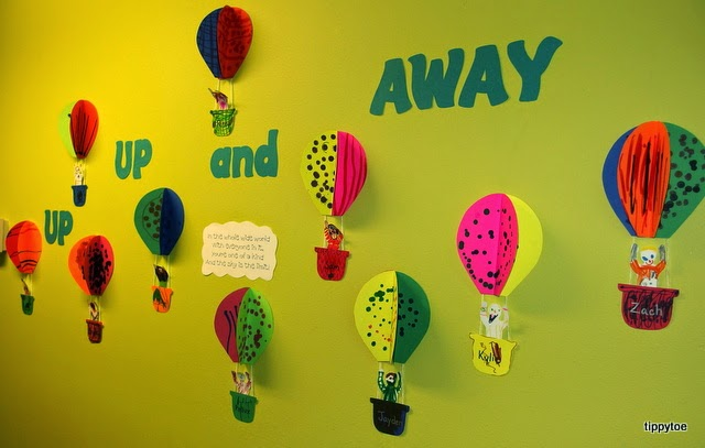 3d Hot Air Balloons And Elephant In on Dr Seuss Bulletin Board Display