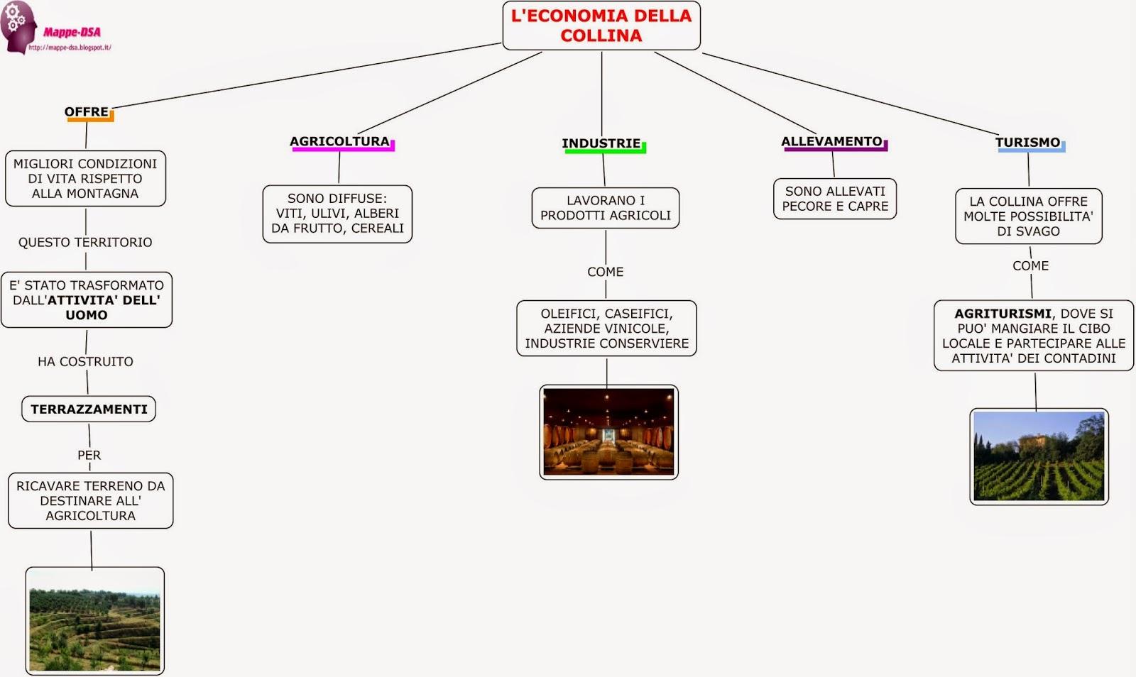 mappa schema dsa economia collina