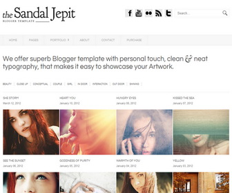 Sandal Jepit Premium Blogger Template