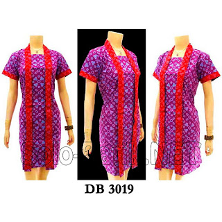 DB3019 - Model Baju Dress Batik Modern Terbaru 2013
