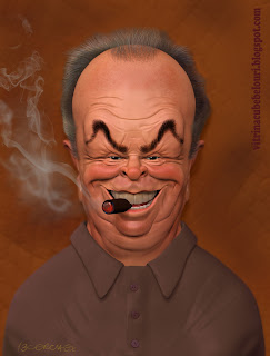 jack nicholson,caricature,cartoon,vitrina cu bebelouri