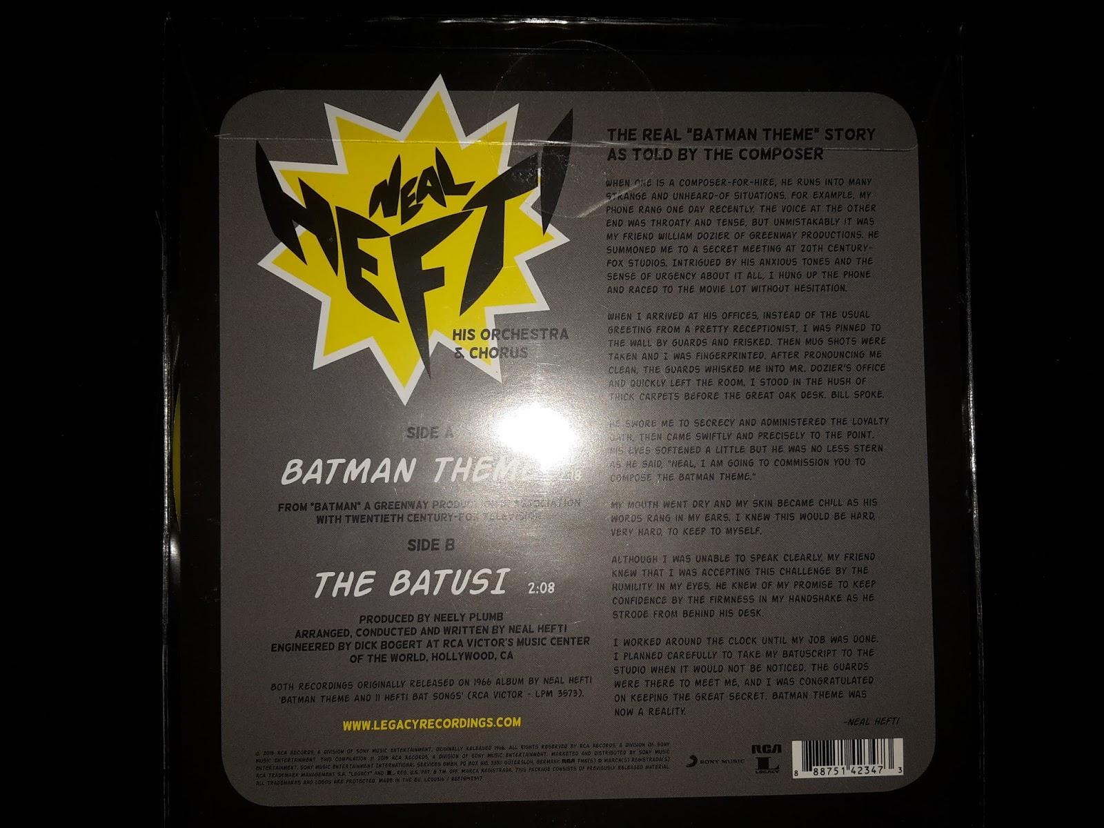 Vinylsinglar Neal Hefti Batman Theme The Batusi