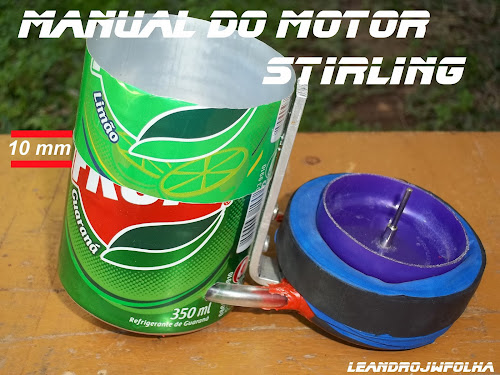 Manual do motor Stirling, cabeçote com 10 mm (1 cm) de encaixe